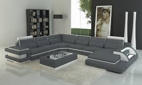 canap panoramique design canape gris et blanc avec deco in canape panoramique cuir gris