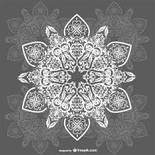 arabesque ornaments background vector free