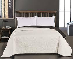 Schlafzimmerm El Anthrazit Decoking 29879 Tagesdecke 220 X 240 Cm Schwarz Weiß Bettüberwurf