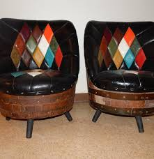 Cavett Leather Chair Whiskey Barrel Chairs Home Chair Decoration