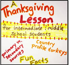 thanksgiving lesson primary vs secondary sources and country