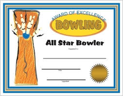 bowling award certificates printable and downloadable bowling