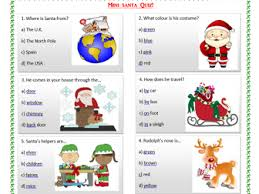 christmas worksheets and comprehension texts for begginers by