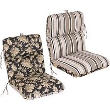Patio Chairs With Cushions Replacement Patio Chair Cushion Fallenton Coal Armona Jet
