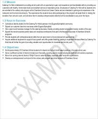 catering business plan template business action plan example