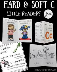 hard and soft c little reader books playdough to plato