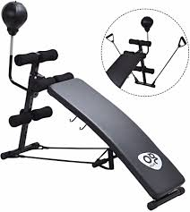 sit up bench boxing punching bag adjustable exercise fitness