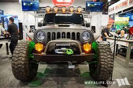 baja jeep 2017 sema baja designs jeep jk wrangler crew cab pickup truck