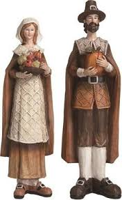 thanksgiving pilgrim statues thanksgiving pilgrim figurines thanksgiving