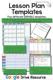 lesson plan templates google digital resource academic
