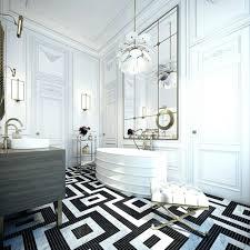 victorian mosaic path floor tiles black white grey flower design