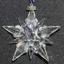 2001 swarovski snowflake ornament