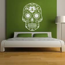 popular sticker mural sugar skull buy cheap sticker mural sugar
