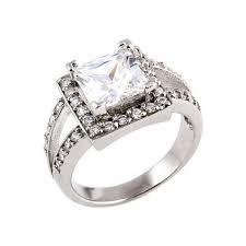 split band engagement rings 3 62ct large princess cut solitaire split band engagement