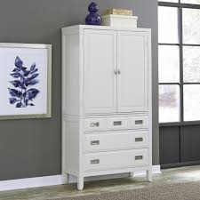 White Self Assembled Bedroom Furniture Armoires Bedroom Furniture The Home Depot