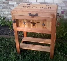 rustic patio cooler plans home outdoor decoration