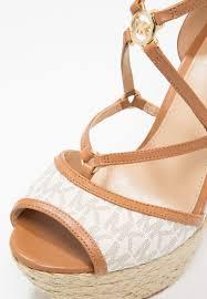 michael michael kors terri platform sandals vanilla acorn women