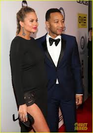 lexus amanda and nick john legend gets support from pregnant chrissy teigen at naacp