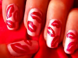 how to create a red lips nail polish design nails u0026 manicure