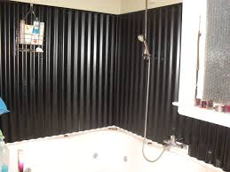 corrugated iron for bathroom wall so easy to clean and looks