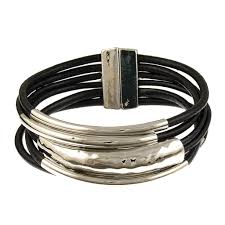 black magnetic bracelet images 6105 4 rhodium black tube magnetic bracelet origin jewelry jpg