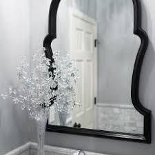 black framed bathroom mirrors photos hgtv