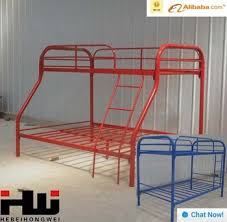 Modern Design Metal Bunk BedsBlue Color Iron BedsAdult Bunk Bed - Metal bunk bed ladder
