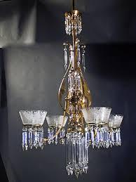 Gas Chandelier Genuine Antique Lighting 4 Light Eastlake Aesthetic Gas