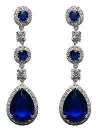 blue chandelier earrings cz chandelier earrings beloved sparkles
