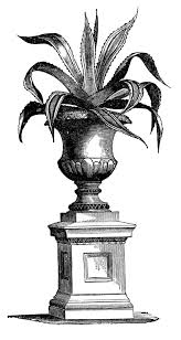 victorian garden graphics potted plants in urns the graphics fairy