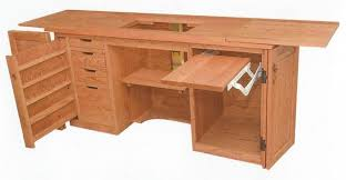 Sewing Cabinet With Lift by Jake U0027s Amish Furniture 165 Sewing Cabinet With Serger Lift Open