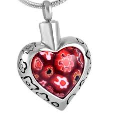 urn necklaces flowers heart urn necklace for ashes johnston s cremation