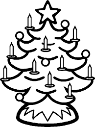 tree candels coloring pages christmas coloring pages