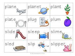 bl cl fl gl pl sl u0027l u0027 word blend activity kindergarten