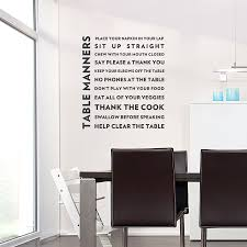 table manners wall quote decal