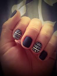 fall 2014 nail trend matte nails aztec nails matte nails and aztec