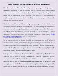 nfpa 101 emergency lighting ul924 emergency lighting approved what ul 924 means to you
