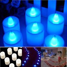 blue tea light candles blue tea lights led candle flickering flameless candles wedding