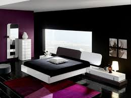 black mixed purple painted for cool bedroom combined with white