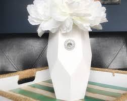 painted vase shabby chic vase vase rustic vase wedding