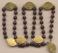rosary of the seven sorrows soothing antique servite seven sorrows rosary glowing brass