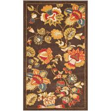 Green And Brown Area Rugs Safavieh Newbury Brown Green 3 Ft X 5 Ft Area Rug Nwb8707 2552 3