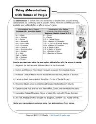 abbreviations and names of people free printable punctuation