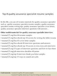 Top quality assurance specialist resume samples quality assurance specialist resume Treasure     SEC LINE Temizlik