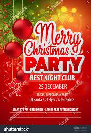 christmas party flyer vector template stock vector 229747327