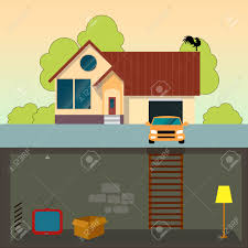 House Flat Design by Traditional Family House Modern House With Basement A Car And