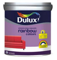 dulux rainbow colours water based acrylic emulsion paint with