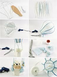 air balloon themed nursery diy lamp teddy bear basket great