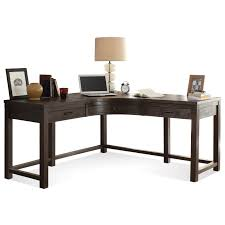 Corner Desk Sets by Riverside Furniture Promenade 3 Drawer Curved Corner Desk