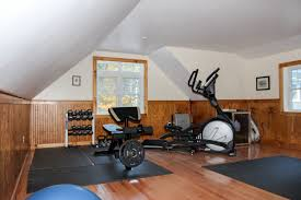 home gym above garage the barn yard great country garages spacious upstairs home gym